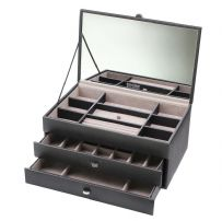 Dulwich Designs 70951 Boutique Large Black Contempory Jewellery Box